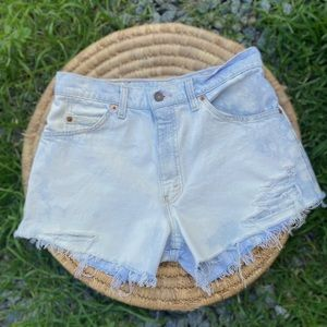 Levi's Vintage Orange Tab Distressed Jean Shorts